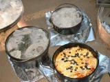 All 3 cast iron pots had yummy food.
