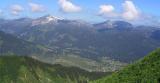 Kleinwalsertal Blick ins Tal mit Hoher Ifen