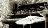 White Umbrella with Shadows