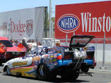 Alcohol cars in staging lane