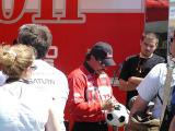 Gary Scelzi signs a.....Soccer ball??