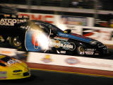 Funny car at night