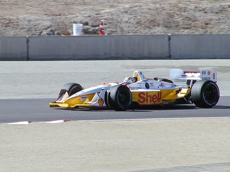 Kenny Brack in Shell car