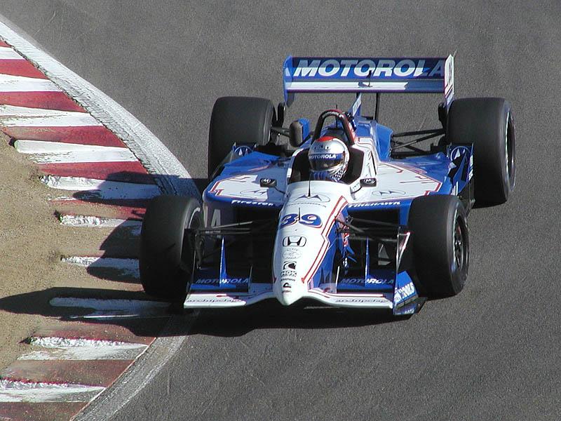 Michael Andretti in the corkscrew