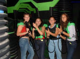 1-Amy, Ixchel and Vanessa getting ready for Lazer tag