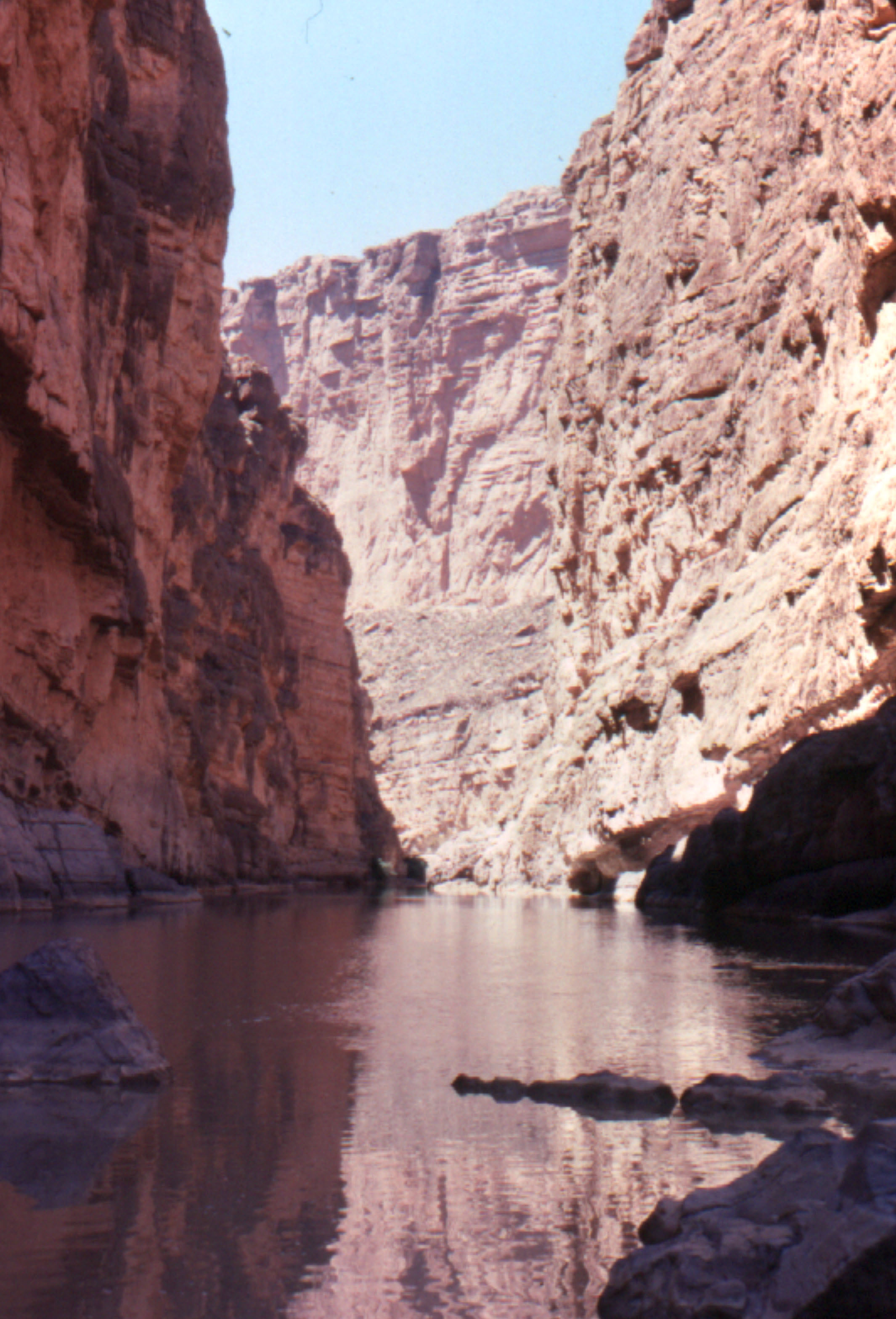 Santa Elena Canyon and the Rio Grande:  Easter 1978.