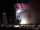 Jacobs Field Fireworks, Full Moon -  August 3rd 2001