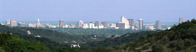 Austin skyline from Lakeview, Texas