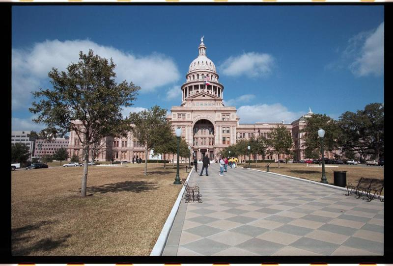 Texas State Capitol Building in the mid of Winter