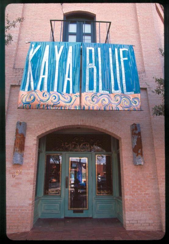 Kaya Blue(and self portrait)