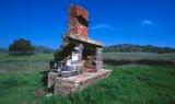 Lone fireplace Up In Prather, California (The house had burned down?)