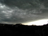Edge of the storm (Squall line) as it cuts through the hill country.