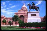 Sam Houston in front of the Austin State Building