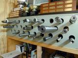 One of Speedy's barrel collections. The big one is a 50BMG, 2 wide and 33 long.