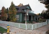 House on the corner in DT Clovis, California