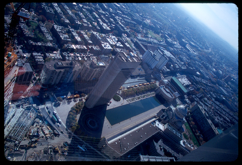 Out the window of the prudential building.