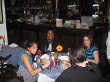 Girls Table - first night dinner