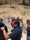 Leaving Cholula Pyramid