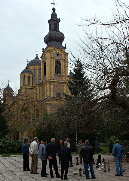 Chess in front of the Orthodox Cathedral (Saborna Crkva)