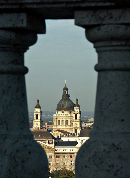 St Stephens Basilica from Buda Palace