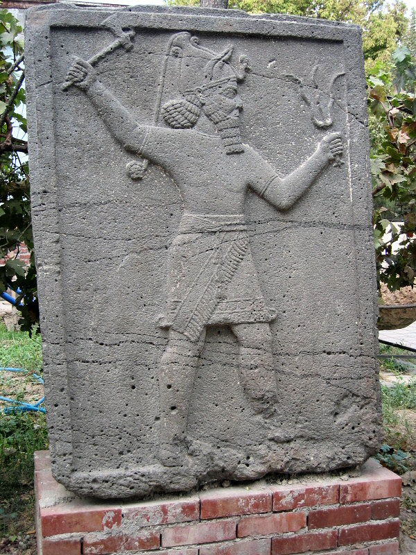 Bas-relief of Teshup, one of the major Hittite gods