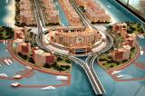 Architectural Model of the Palm Jumeirah trunk