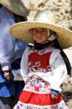 Yemeni girl with a staw hat