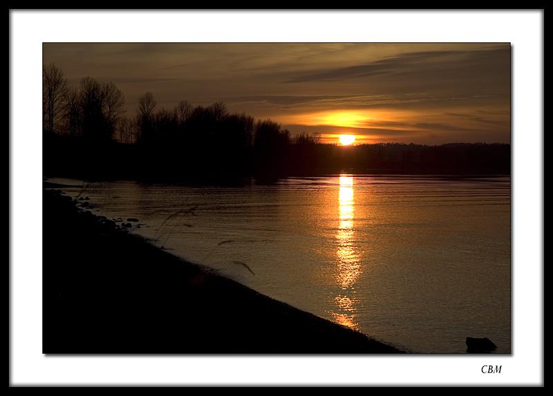 Fraser River sunset