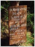Hanakapiai Beach Warning
