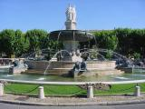 The central fountain in Aix-en-Provence