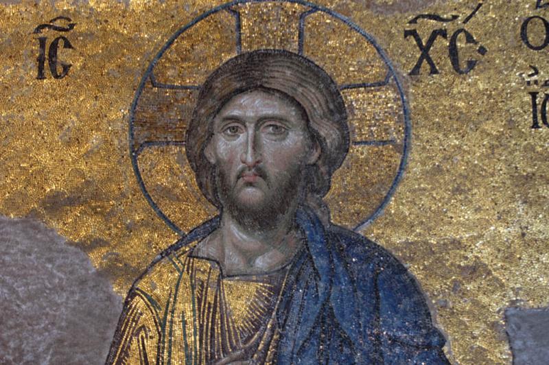 Istanbul Aya Sofya deesis mosaic