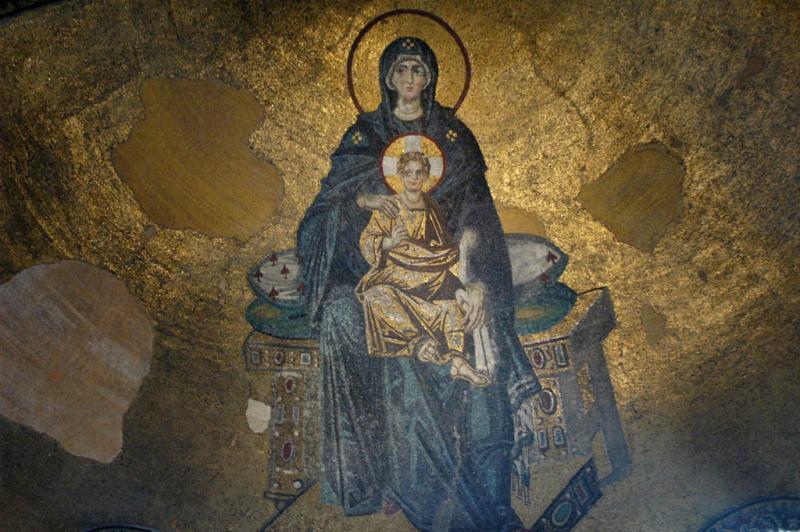 Istanbul Aya Sofya apse mosaic