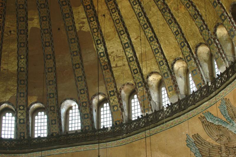 Istanbul Aya Sofya fringe of dome