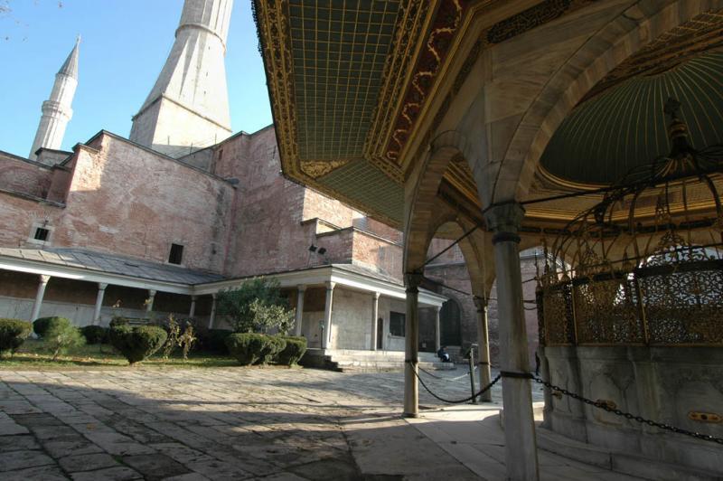 Istanbul Aya Sofya ablutions fountain