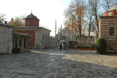 Istanbul Aya Sofya backwards view to entrance