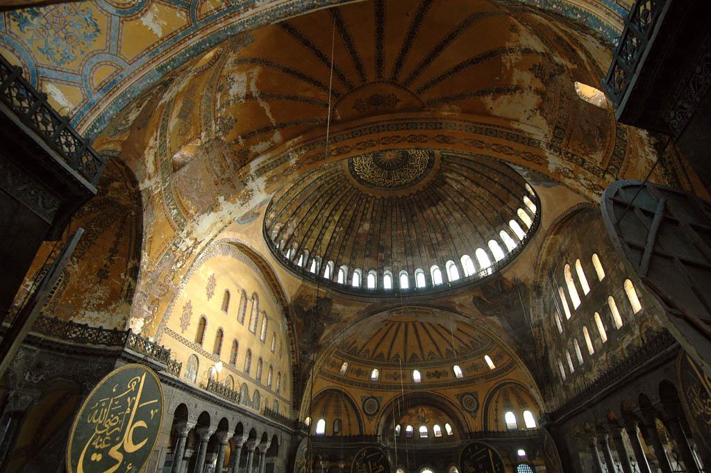 Istanbul Aya Sofya domes