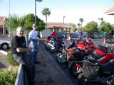 The JSriders meet at the Mobil in Tempe