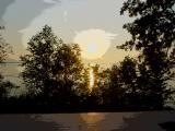 sunset on Leech Lake