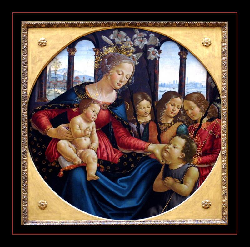 La Vierge et l enfant ( 1490) par Domenico GHIRLANDAJO