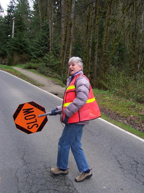 Carolyn controls traffic