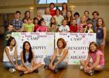 Camp volunteers say  goodbye (прощание) to the orphans