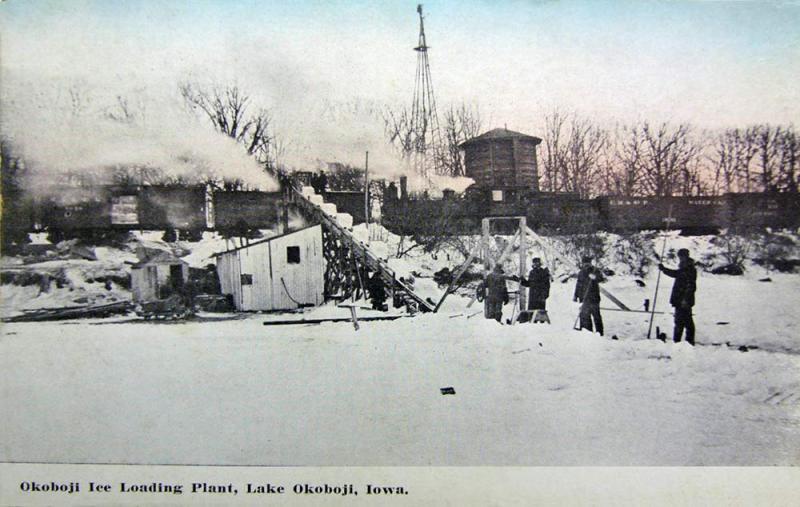 Okoboji Ice Loading Plant 1912
