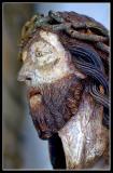 Wooden Bust Sculpture of Jesus