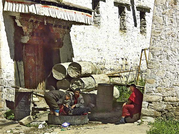 Monks Doing the Laundry