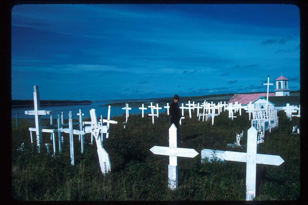 Graveyard At The Roman Catholic Church:  Tsiigehtchic (Arctic Red River), NWT