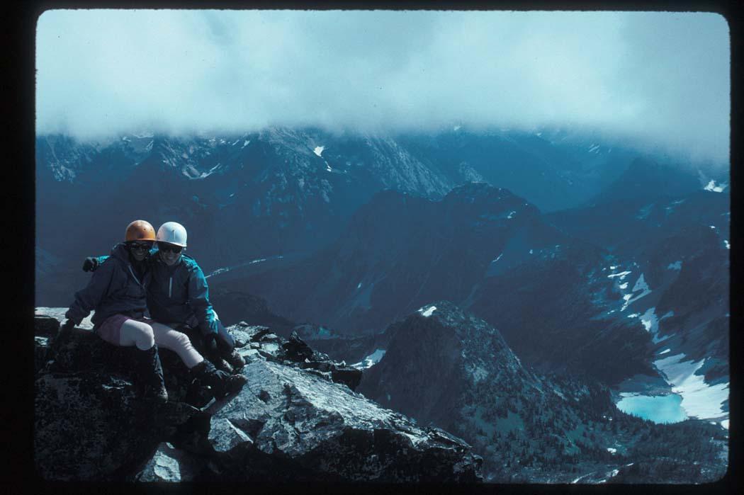 Karen Nolan (L) & Sarah Miller, Black Peak Summit