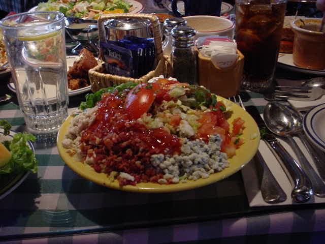 cobb salad for lunch at Mimis