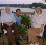 Wade, Roger & Laura at Charlie & Bonnie's 2001