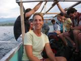 breeze blowing through my hair while sailing to Gili Meno