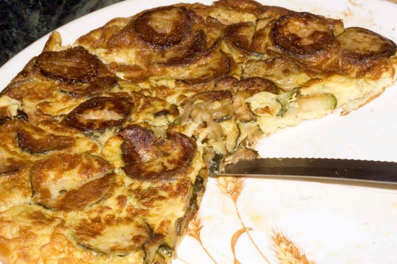 zucchini frittata (large)